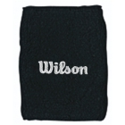 Wilson Double Wristbands (Black) - Wilson Headbands & Writsbands Tennis Apparel