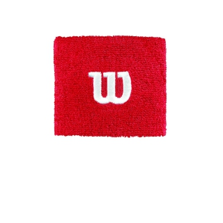 Wilson 'W' Tennis Wristband (Wilson Red)