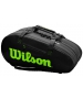 Wilson Super Tour 3 Compartment Tennis Bag (Black/Green) - NEW: Wilson Blade v7.0 Tennis Racquets, Bags, and Accessories
