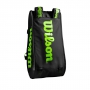Wilson Super Tour 3 Compartment Tennis Bag (Black/Green)