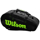 Wilson Super Tour Large 2 Compartment Tennis Bag (Black/Green) - NEW: Wilson Blade v7.0 Tennis Racquets, Bags, and Accessories