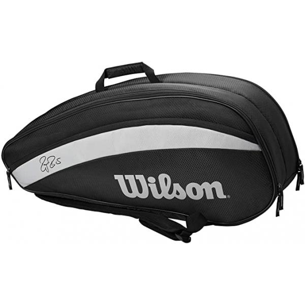 Wilson Federer Team 6 Pack Tennis Bag (Black)