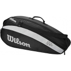 Wilson Federer Team 3 Racquet Tennis Bag (Black) - Wilson Tennis Bags