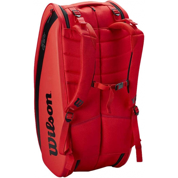 Wilson RF (Federer) DNA 12 Pack Tennis Bag (Infrared)