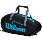 Wilson Ultra 9 Pack Tennis Bag (Black/Blue/Silver) -