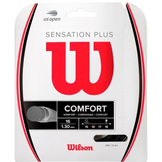 Wilson Sensation Plus 16g Black Tennis String (Set)