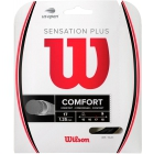 Wilson Sensation Plus 17g Black Tennis String (Set) - Arm Friendly Strings