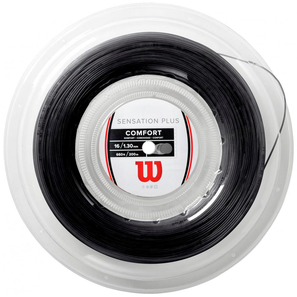 Wilson Sensation Plus 16g Black Tennis String (Reel)