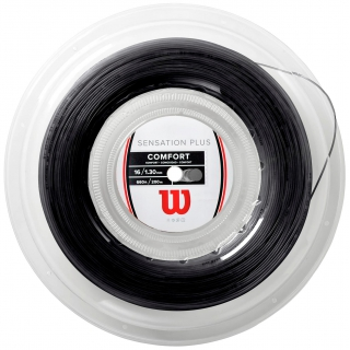Wilson Sensation Plus 16g Black Tennis String (Reel)
