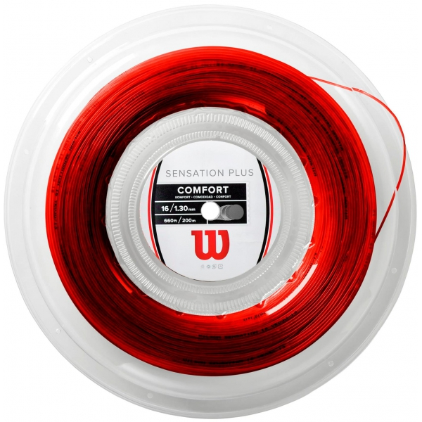 Wilson Sensation Plus Tennis String-Reel (Red, 16G)