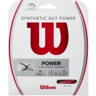Wilson Synthetic Gut Power 16g Red Tennis String (Set) - Wilson Tennis String