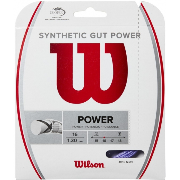 Wilson Synthetic Gut Power 16g Purple Tennis String (Set)