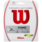 Wilson Synthetic Gut Power 16g Yellow Tennis String (Set) - Synthetic Gut Tennis String