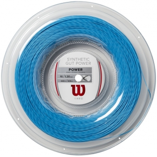 Wilson Synthetic Gut Power 16g Blue Tennis String (Reel)