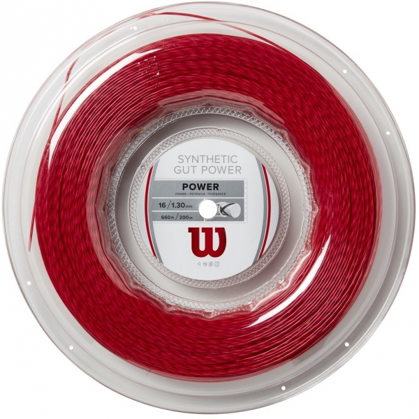 Wilson Synthetic Gut Power 16g Red Tennis String (Reel)