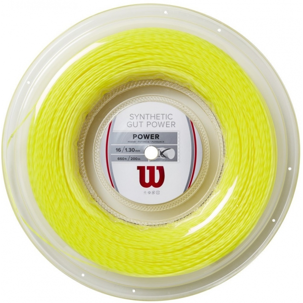 Wilson Synthetic Gut Power 16g Yellow Tennis String (Reel)