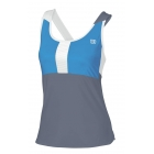 Wilson Women's Star Power Racerback Tank (Gry/ Cyn/ Wht) - Women's Tennis Apparel