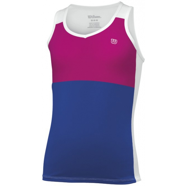 Wilson Girl's Sweet Success Tank (White/ Ink)