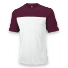 Wilson Men's Team Tennis Crew (Maroon/White) - Wilson