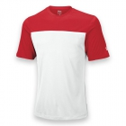 Wilson Men's Team Tennis Crew (Red/White) - Wilson