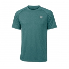Wilson Men's Spring Core Tennis Crew (Deep Lake/Tropical Green) - Wilson Tennis Apparel