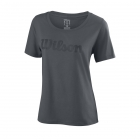Wilson Women's Script Cotton Tennis Tee (Turbulence) - Wilson Women's Tennis Apparel