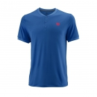Wilson Men's Summer UWII Tennis Henley (Prince Blue) - Wilson Tennis Apparel