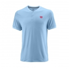 Wilson Men's Summer UWII Tennis Henley (Airy Blue) - Wilson Tennis Apparel