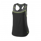 Wilson Women's UWII Hybrid Tennis Tank (Black/Turbulence) - Wilson Women's Tennis Apparel