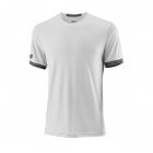 Wilson Men's Solid Team Tennis Crew (White/Black) - Wilson Men's Team Tennis Apparel