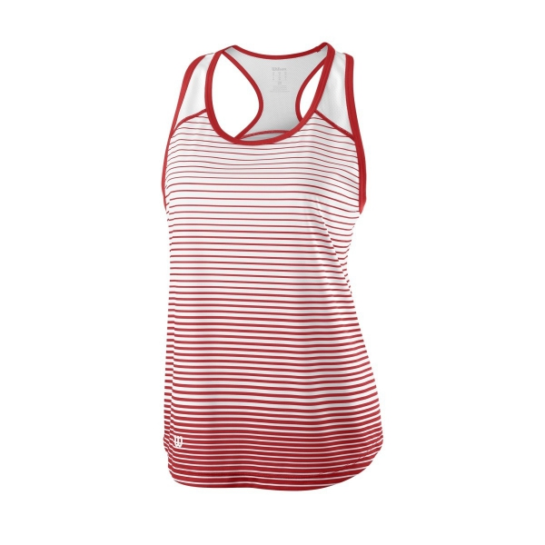 Wilson Women's Striped Team Tennis Tank (Wilson Red/White)