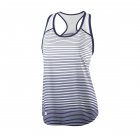 Wilson Women's Striped Team Tennis Tank (Black/White) - Wilson Women's Tennis Apparel