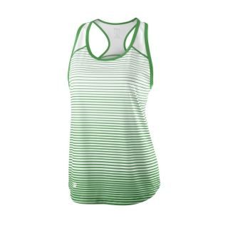 Wilson Women's Striped Team Tennis Tank (Andean Toucan/White)