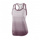 Wilson Women's Striped Team Tennis Tank (Cardinal/White) [Sale] -