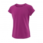 Wilson Girl's Cap Sleeve Tennis Tee (Very Berry) - Wilson Junior Tennis Apparel for Boys & Girls