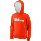 Wilson Youth Script Cotton PO Tennis Hoody (Tangerine Tango) - Tennis Gift Ideas for Junior Players