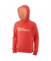 Wilson Youth Script Cotton PO Tennis Hoody (Cayenne) - Girl's Tops