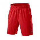 Wilson Men's UWII Vignette 8 Inch Tennis Short (Poppy Red) - Wilson Tennis Apparel
