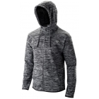 Wilson Men's Hooded Tennis Training Jacket (Black Heather) - Wilson Men's Tennis Apparel