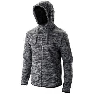Wilson Men's Hooded Tennis Training Jacket (Black Heather)