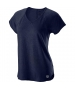 Wilson Women's Tennis Training V-Neck Tee (Peacoat) - Shop the Best Selection of Tennis Apparel