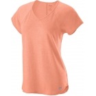 Wilson Women's Tennis Training V-Neck Tee (Papaya Punch) -