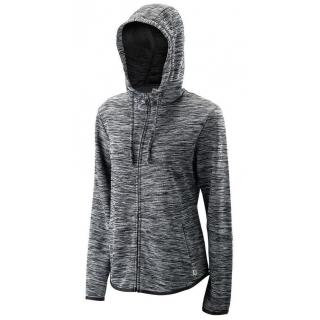 Wilson Women's Hooded Tennis Training Jacket (Black Heather)