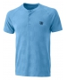 Wilson Men's Power Seamless Henley Tennis Shirt (Coastal Blue) - Shop the Best Selection of Tennis Apparel
