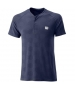 Wilson Men's Power Seamless Henley Tennis Shirt (Peacoat) - Shop the Best Selection of Tennis Apparel