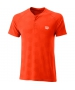 Wilson Men's Power Seamless Henley Tennis Shirt (Tangerine Tango) - Shop the Best Selection of Tennis Apparel