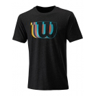 Wilson Men's Blur Tech Tennis Tee (Black) - Wilson Men's Tennis Apparel
