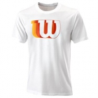 Wilson Men's Blur Tech Tennis Tee (White) - Wilson Men's Tennis Apparel