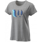 Wilson Women's Blur W Tech Tennis Tee (Heather Gray) -