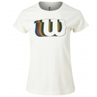 Wilson Women's Blur W Tech Tennis Tee (Ivory) - New Style Tennis Apparel